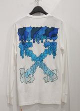 OFF-WHITE BLUE MARKER ロンT