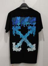 OFF-WHITE BLUE MARKER SLIM Tシャツ