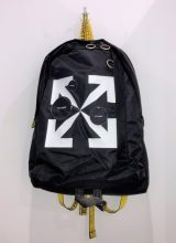 OFF-WHITE CUT HERE BACK PACK BLACK