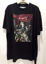 OFF-WHITE 2020/FW CARAVAG PAINTING OVER Tシャツ BLACK