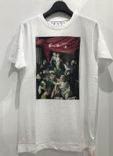 off-white 2020 F/W CARAVAG PAINTING OVER Tシャツ WHITE